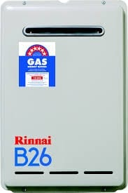 Rinnai B26 Gas Continuous Flow Hot Water System