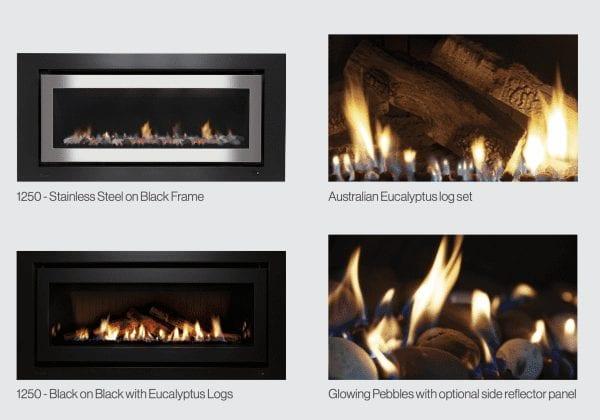 rinnai 1250 gas log fire